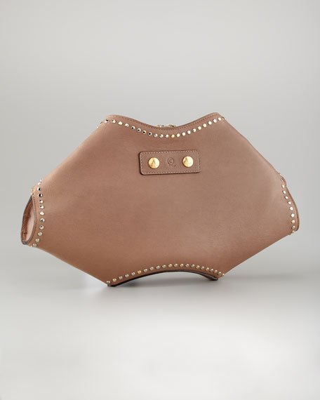 De-Manta Studded Clutch Bag