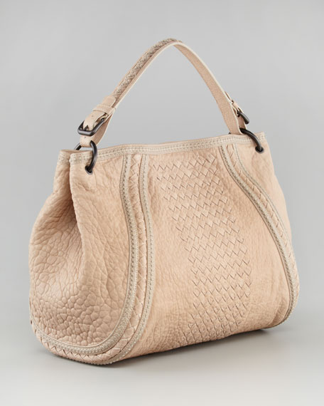 Woven East-West Hobo Bag