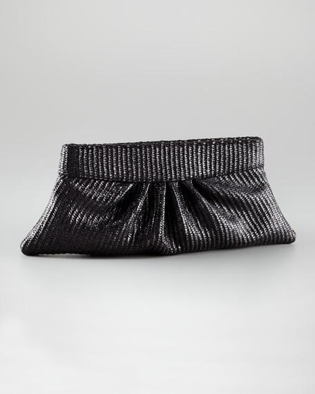 Louise Pleated Raffia Clutch Bag