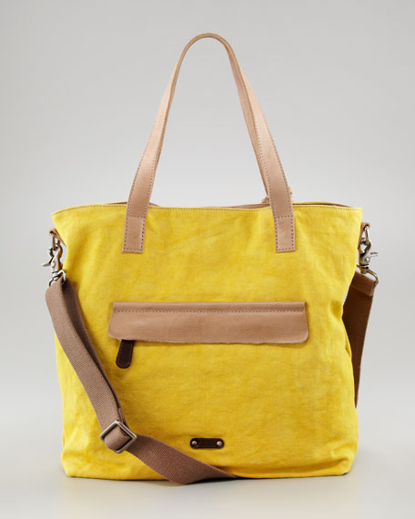 Danni Canvas-Leather Tote Bag