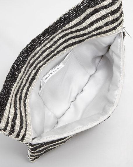 Geometric Beaded Clutch Bag