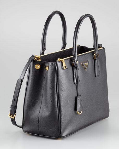 Saffiano Small Double-Zip Executive Tote Bag