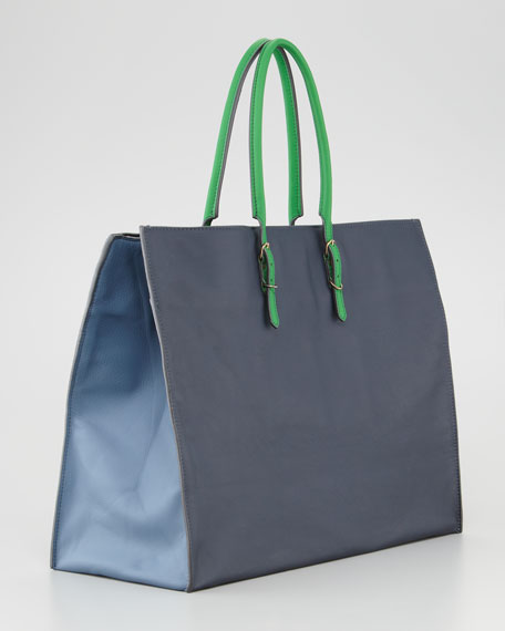 Papier A4 Leather Tote Bag