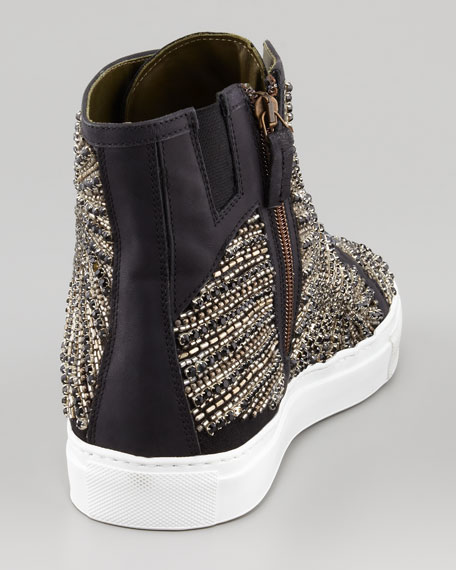 Lajos Tux Beaded High-Top Sneaker