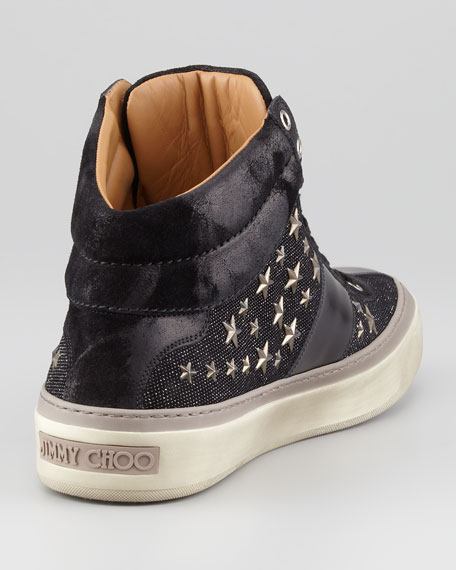 Ravi Star-Studded High-Top Sneaker