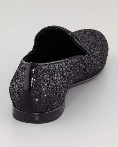 Glitter Smoking Slipper, Black