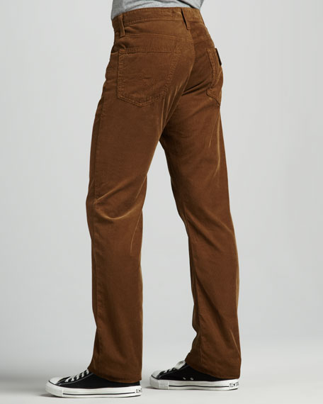 Protege Straight-Leg Clay Corduroy Pants
