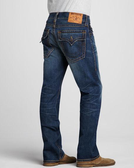 Ricky Straight Stud-Pocket Jeans