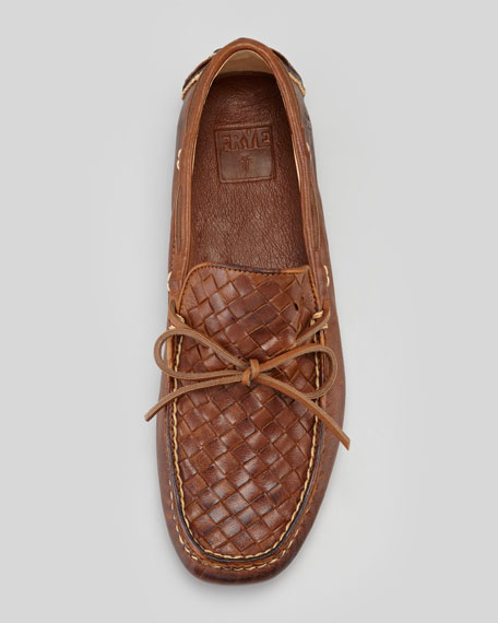 West Woven Leather Driver