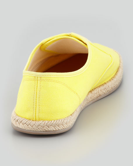 Lace-Up Canvas Espadrille Sneaker, Yellow
