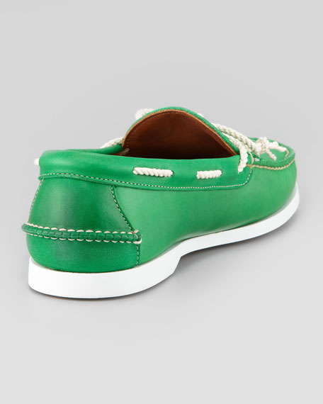 Rope-Tie Boat Shoe, Green