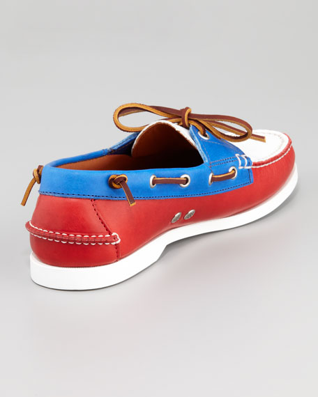 Colorblock Boat Shoe