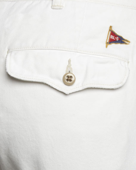 Vintage Officer's Chino Shorts, Cream