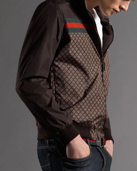 Diamante Track Jacket, Brown