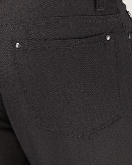 Pickstitched Black Jeans