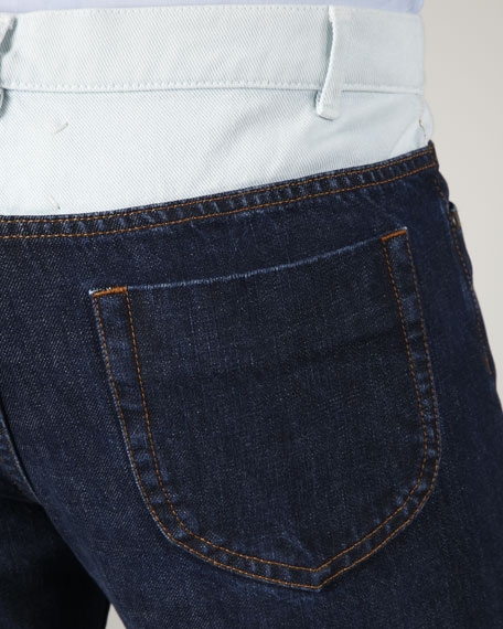 Two-Tone Blue Jeans