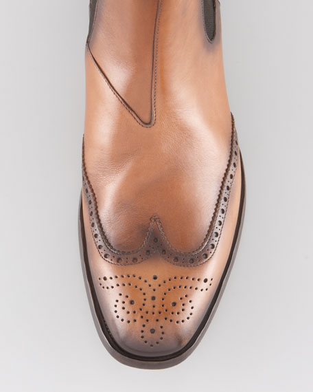 Wing-Tip Chelsea Boot