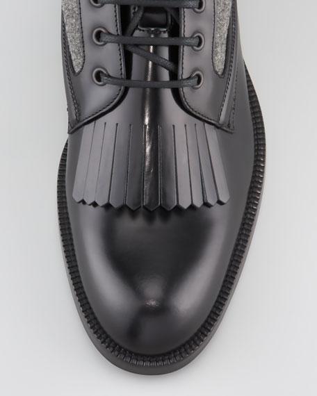 Chesham Leather/Flannel Roper Boot