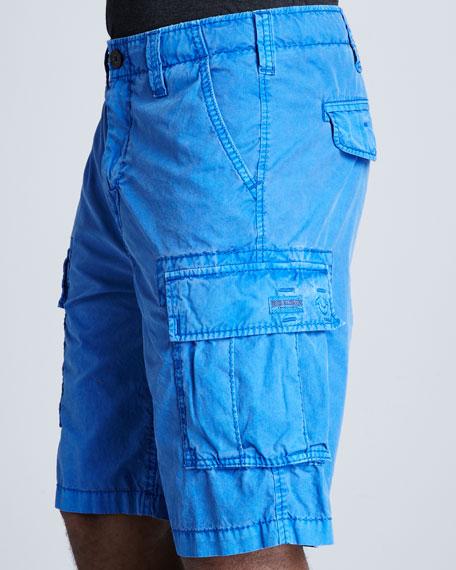 Samuel Overdyed Cargo Shorts, Royal Blue