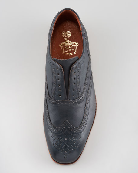 The Laceless Wing-Tip, Indigo