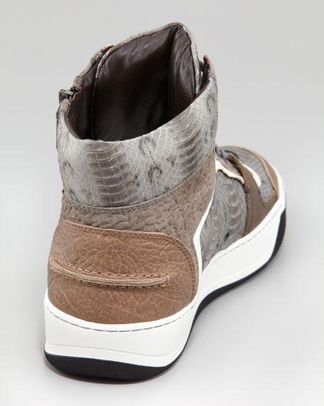 Side-Zip Watersnake High-Top Sneaker
