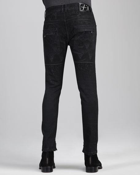 Jacquard-Print Jeans