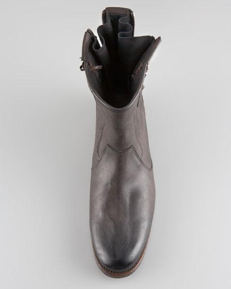 Parisian Double-Zip Boot