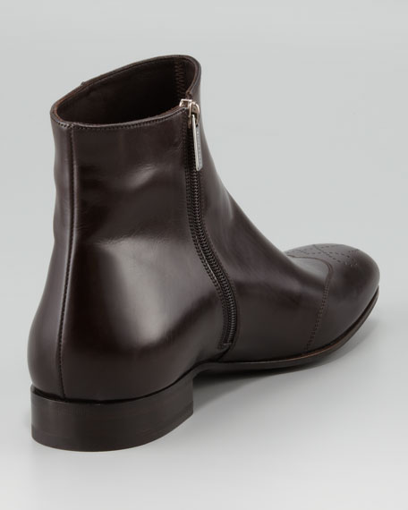Medallion-Toe Dress Boot