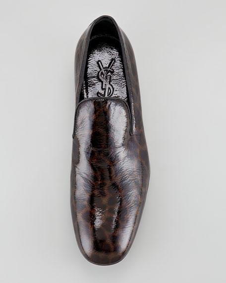Leopard-Print Patent Loafer