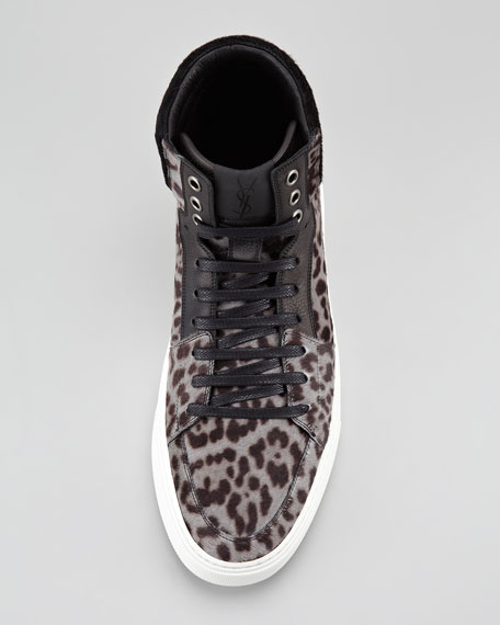 Malibu Calf-Hair High-Top Sneaker