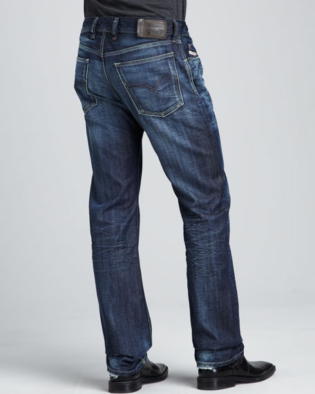 Waykee Whiskered Jeans, 32""