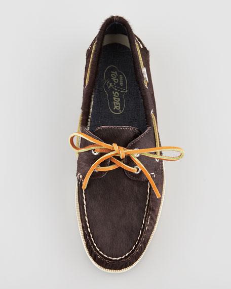 Calf Fur Boat Shoe