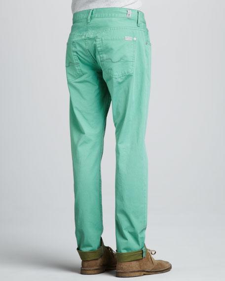 Straight Twill Pants, Vista Green