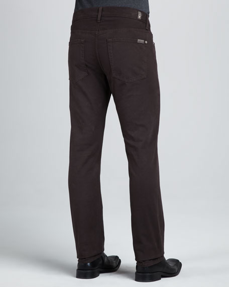 Slimmy Dark Brown Twill Pants