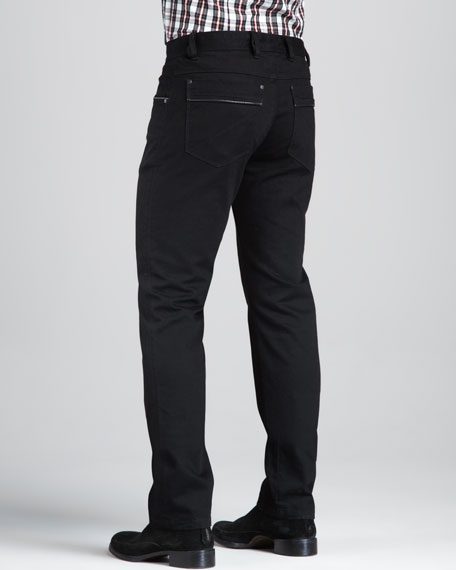 Monochrome Slim Black Jeans