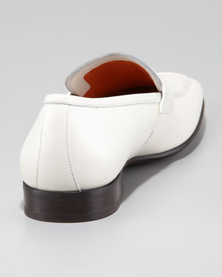 Tribune Gancini Loafer, Ivory