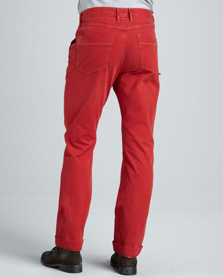 Yates Classic Jeans, Red