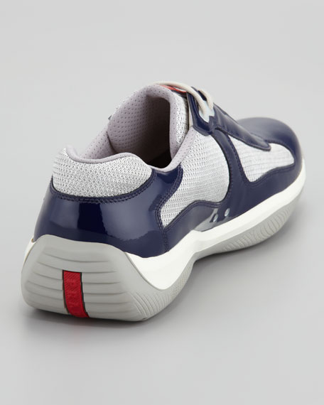 America's Cup Sneaker, Navy/Silver
