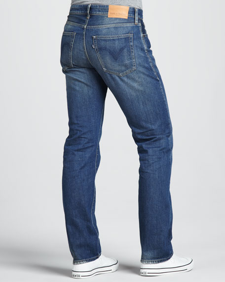 Ruler Straight-Leg Wave Jeans