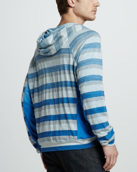 Reversible Striped Hoodie