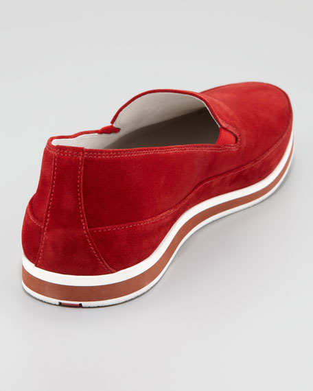 Suede Slip-On, Red