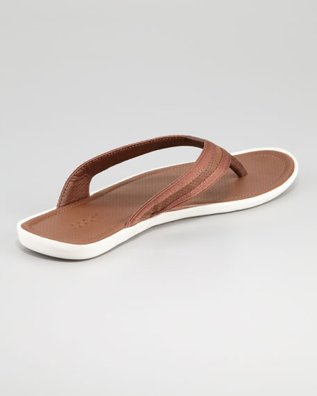 Carros Leather Thong Sandal, Tan