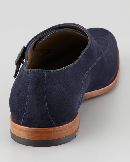 Suede Double Monk-Strap Loafer