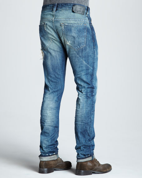 Thavar Washed Distressed Jeans