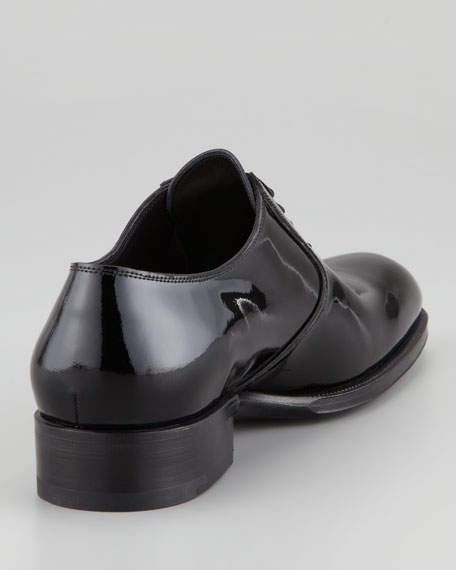 Edward Patent Leather Oxford, Black