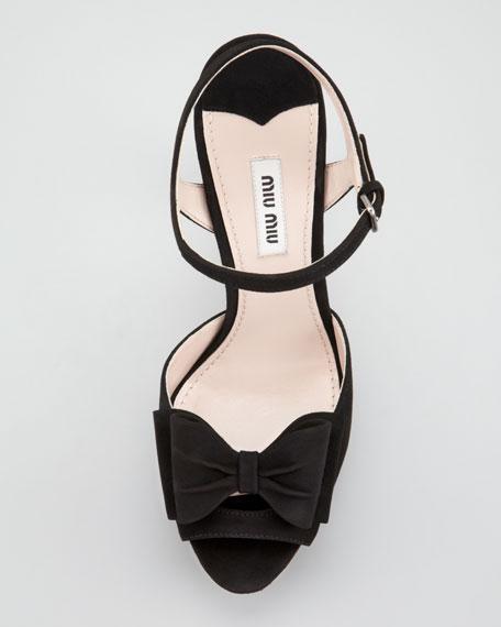 Front Bow Platform Sandal