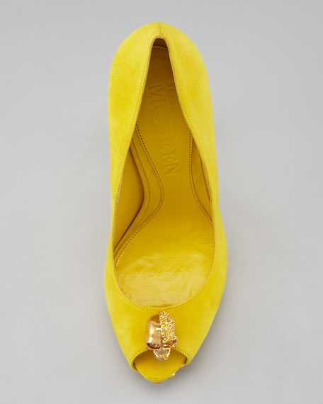 Skull Platform Pump, Yellow