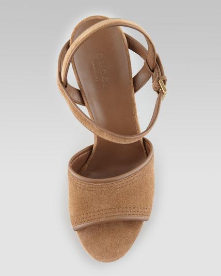 Danielle Suede Cork Platform Sandal