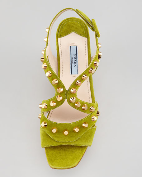 Studded Cork Wedge, Edera