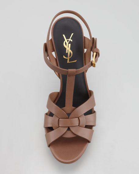"Tribute Platform Sandal, Taupe, 4"""